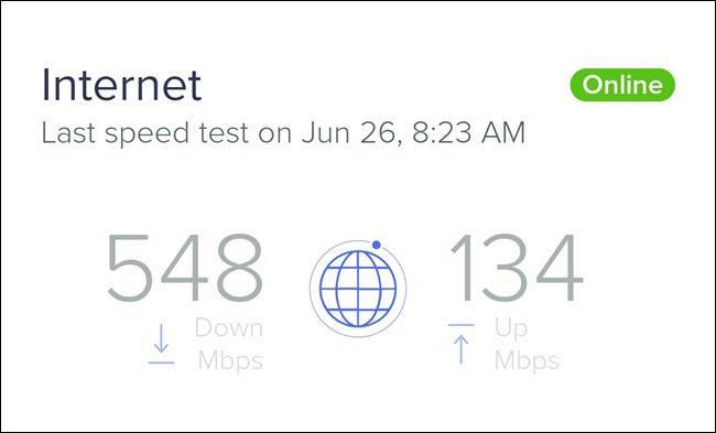 Tốc độ tải xuống thường nhanh hơn tốc độ tải lên. Ảnh: How-To Geek.