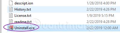 Gỡ ứng dụng bằng trình gỡ cài đặt tích hợp sẵn