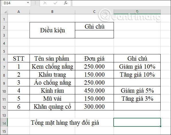 Hàm DCOUNTA, cách dùng hàm đếm ô không trống trong Excel - Ảnh minh hoạ 7
