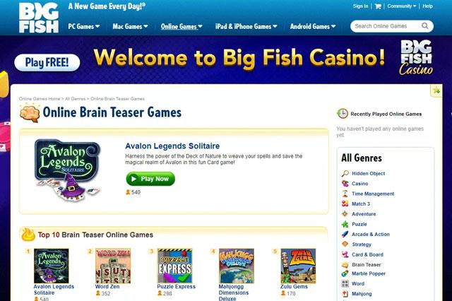 Trang web trò chơi Big Fish
