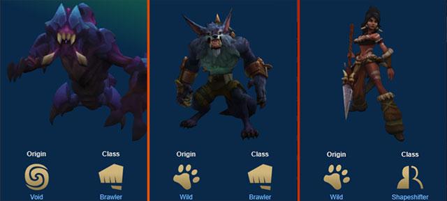 Các đấu sĩ và đội hình hoang dã