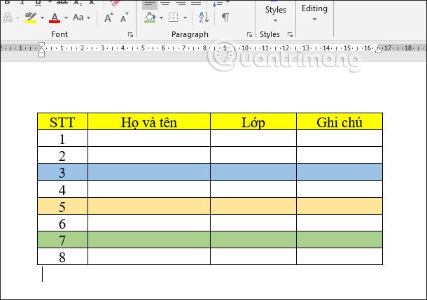 Cách tách bảng và nối bảng Word - Ảnh minh hoạ 2