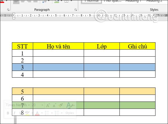 Cách tách bảng và nối bảng Word - Ảnh minh hoạ 5