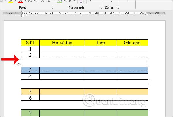 Cách tách bảng và nối bảng Word - Ảnh minh hoạ 8