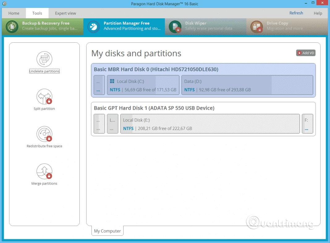 Top 10 phần mềm quản lý phân vùng ổ đĩa Windows miễn phí