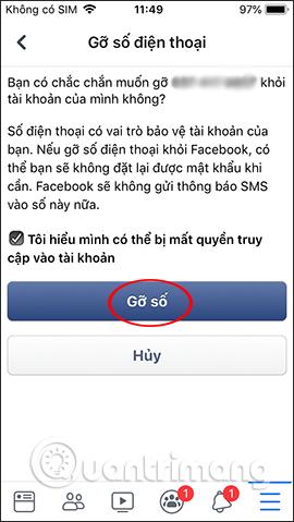 Hướng dẫn xóa số điện thoại Facebook - Ảnh minh hoạ 7