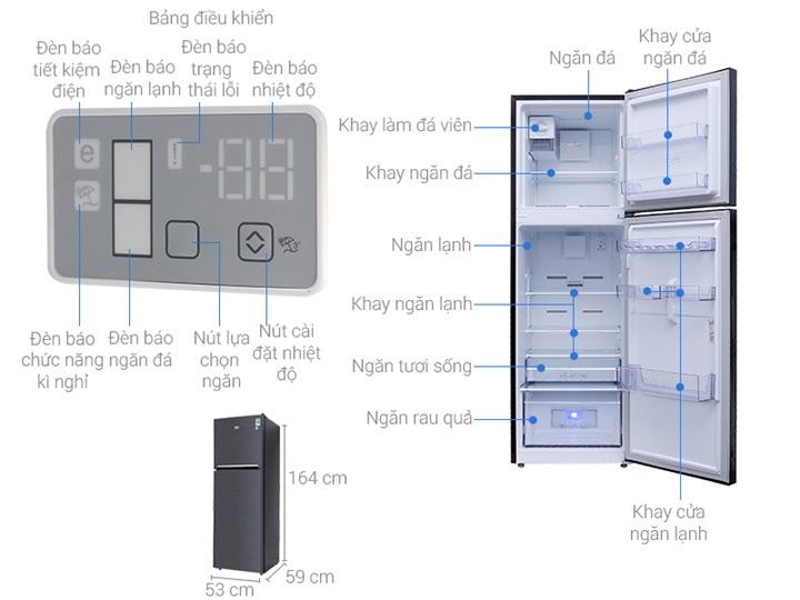 Tủ lạnh Beko Inverter 241 lít RDNT270I50VWB