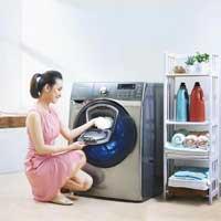 Cách mở máy giặt cửa ngang an toàn khi đang giặt
