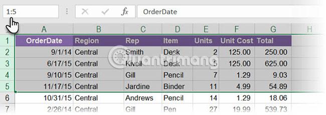 Cách sử dụng Name Box trong Excel - Ảnh minh hoạ 4