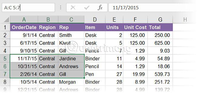Cách sử dụng Name Box trong Excel - Ảnh minh hoạ 6
