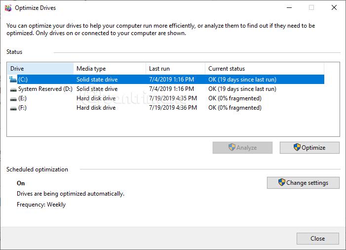 Kiểm tra loại ổ cứng qua công cụ tích hợp sẵn trên Windows 10
