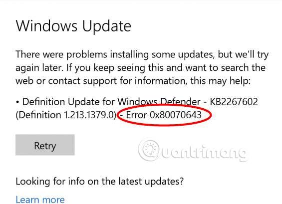 Sửa lỗi 0x80070643 trên Windows - Ảnh minh hoạ 2