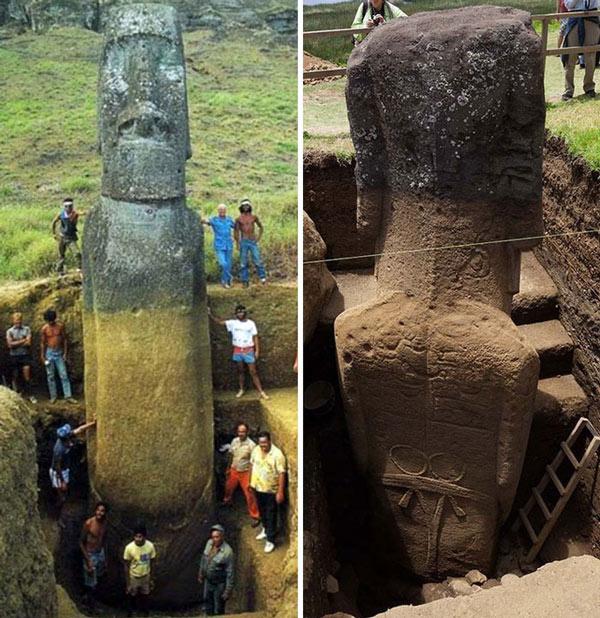 Người Polynesia cổ đại đã làm ra những bức tượng đủ cả thân khổng lồ này khoảng từ năm 1100 đến 1500