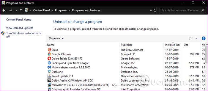 Gỡ cài đặt .NET Framework