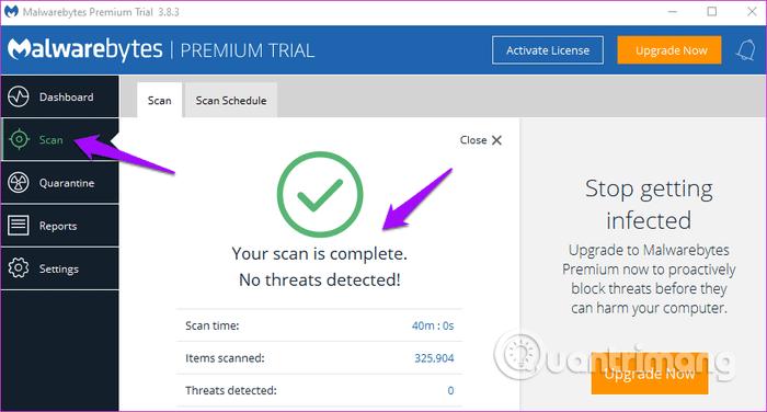 Quét máy tính sử dụng phần mềm diệt virus