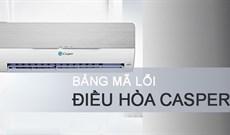 Hướng dẫn đọc mã lỗi điều hòa, máy lạnh Casper để sửa chữa nhanh nhất