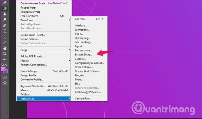 Select Scratch Disk