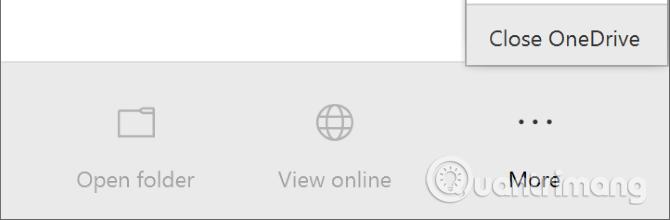 Click vào Close OneDrive