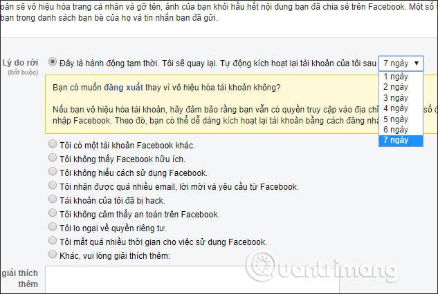 Cách xóa tài khoản Facebook tạm thời - Ảnh minh hoạ 5