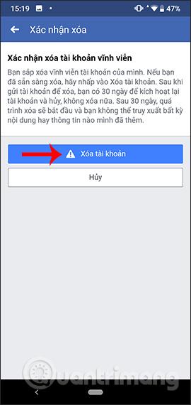 Hướng dẫn xóa Facebook tạm thời, vĩnh viễn trên Android - Ảnh minh hoạ 16