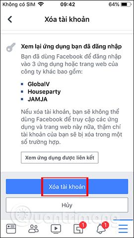 Hướng dẫn khóa tạm thời, vĩnh viễn Facebook iPhone/iPad - Ảnh minh hoạ 15