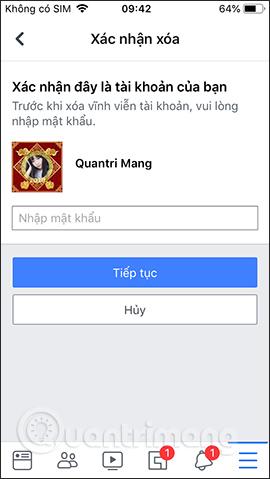 Hướng dẫn khóa tạm thời, vĩnh viễn Facebook iPhone/iPad - Ảnh minh hoạ 16