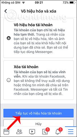 Hướng dẫn khóa tạm thời, vĩnh viễn Facebook iPhone/iPad - Ảnh minh hoạ 6