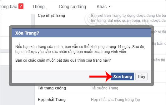 Đây là cách để xóa Fanpage Facebook
