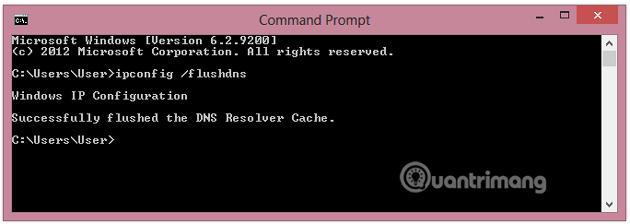 Nhập câu lệnh vào cửa sổ Command Prompt