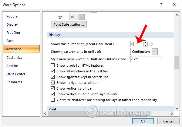 Cách xóa danh sách file vừa mở trong Word 2007 - Ảnh minh hoạ 5