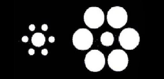 Vòng tròn bên trái hay bên phải lớn hơn?
