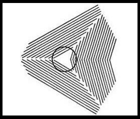 Bạn thấy vòng tròn trong bức ảnh dưới đây méo mó ư?