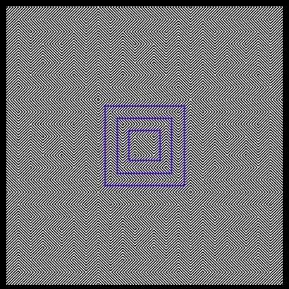 Do ảo giác quang học khiến bạn cảm thấy đường vẽ màu xanh trong hình hơi nghiêng và giống hình thoi mà thôi