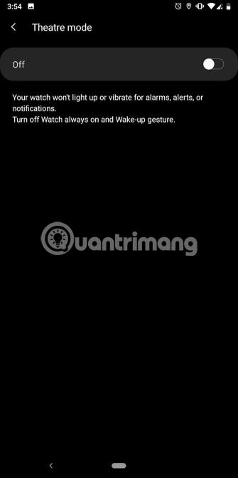 3 chế độ không làm phiền khác trên Galaxy smartwatch