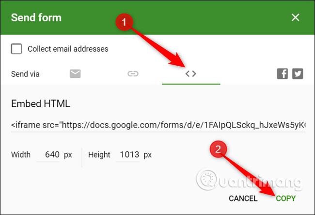 Cách tạo biểu mẫu liên hệ trang web bằng Google Forms - Ảnh minh hoạ 10