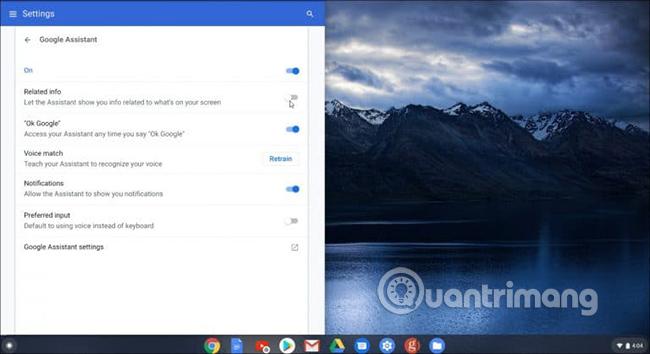 Điều chỉnh thêm tính năng của Google Assistant
