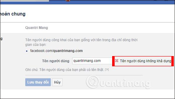 Hướng dẫn đổi tên người dùng Facebook - Ảnh minh hoạ 3