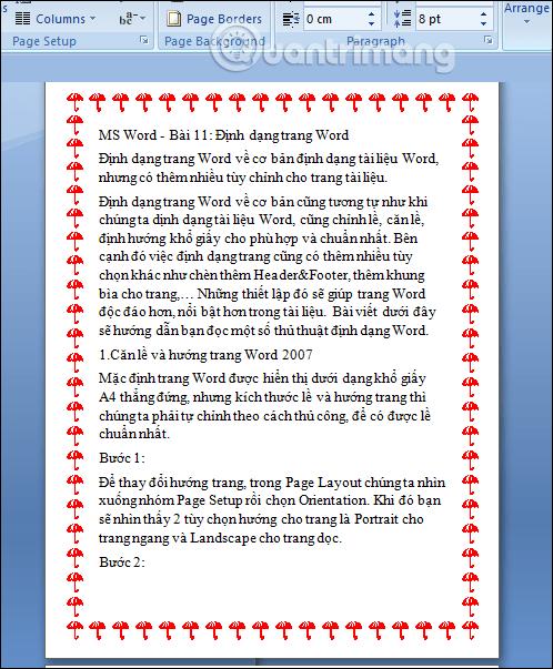 MS Word - Bài 11: Định dạng trang Word - Ảnh minh hoạ 8