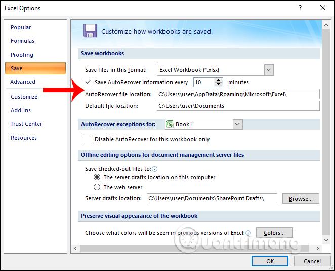 Khôi phục file Excel