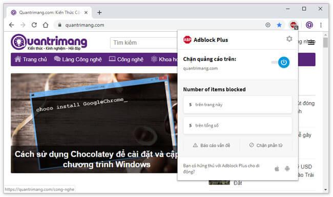 ABP có nhiều tính năng, tùy chọn giúp người dùng có thể chặn hầu hết quảng cáo trên trình duyệt một cách nhanh chóng