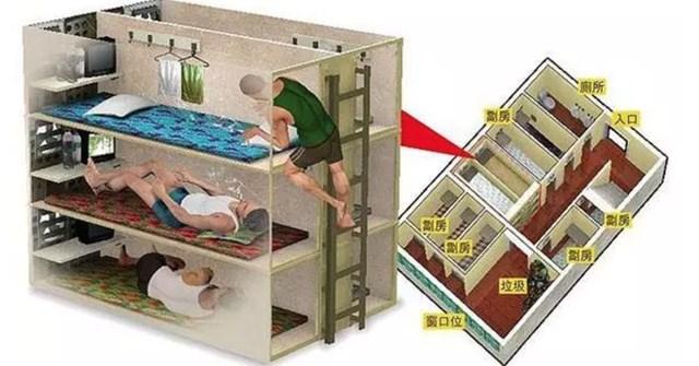Bộ ảnh hiếm về những căn hộ siêu nhỏ được ví như những 'cỗ quan tài' ở Hong Kong
