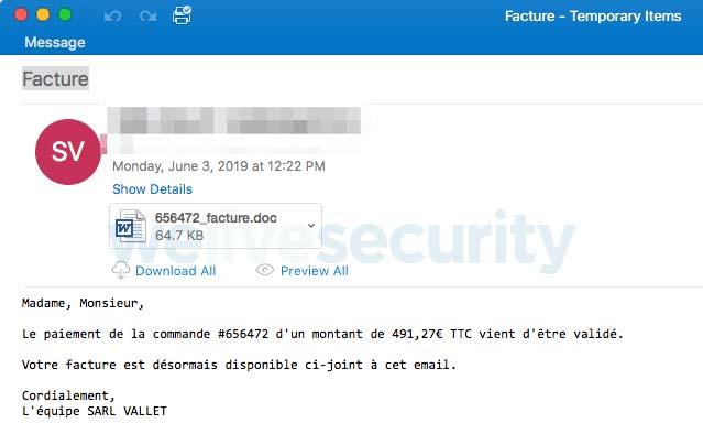 Email spam chứa mã độc Varenyky được ngụy trang cực kỳ tốt