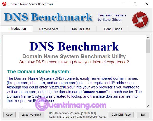 Công cụ GRC Domain Name Speed Benchmark