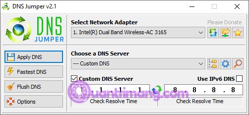 Công cụ DNS Jumper