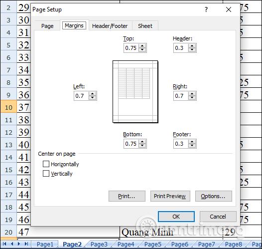 Sheet 2 có định dạng như Sheet 1