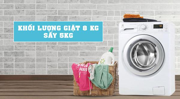 Máy giặt sấy cửa trước Inverter Electrolux EWW12853