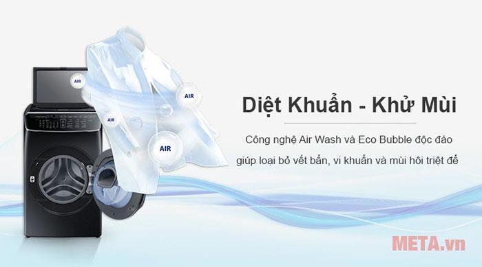 Máy giặt sấy Samsung Flex Wash WR24M9960KV/SV