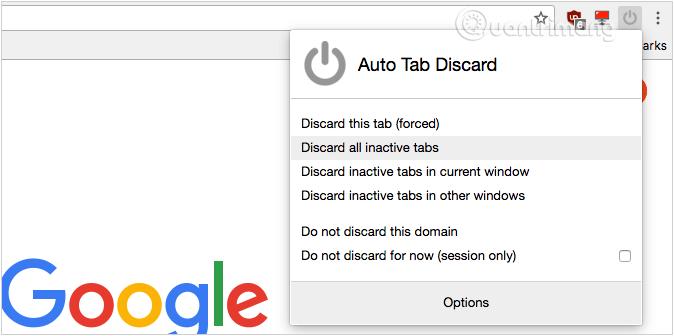 Sử dụng tiện ích Auto Tab Discard để tăng tốc Firefox