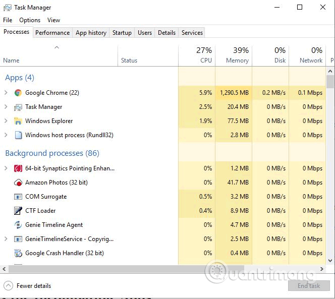 Mở Task Manager