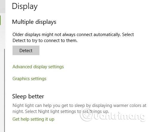 Click vào Advanced display settings
